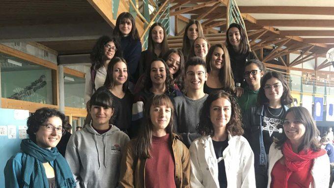 Quelques élèves français et italiens participants à l'Edition Transalp 2019.